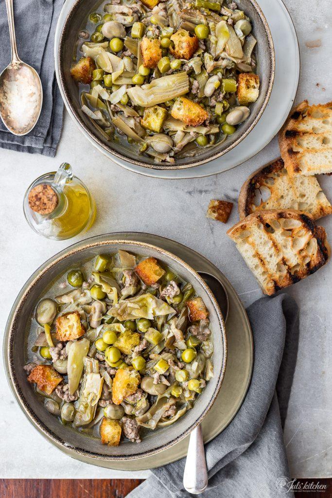 Garmugia, a spring tuscan soup