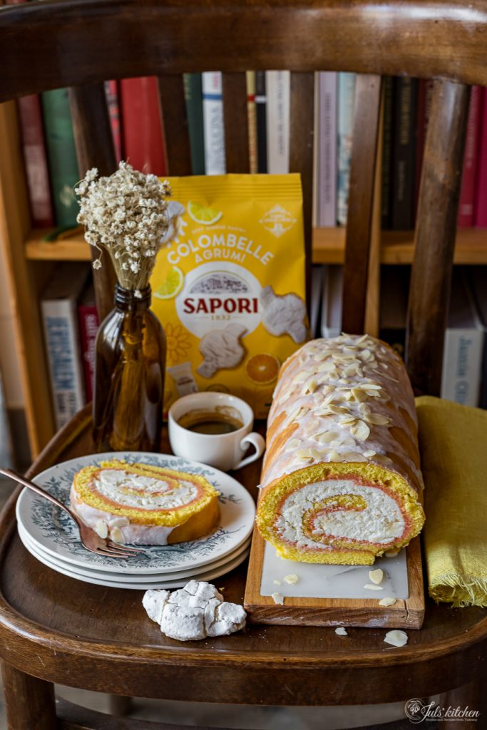 Pan di Spagna arrotolato alla ricotta